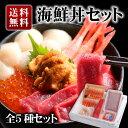 豪華海鮮5種セット 北海道産いくら醤油漬け 無添加ウニ 本マ...