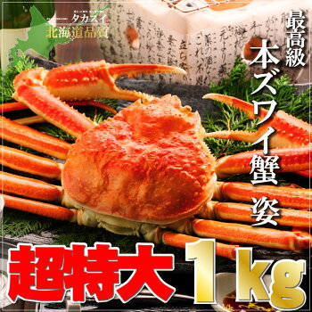 【超特大】ジャンボズワイガニ姿1kg前後【ズワイガニ】【ずわいがに】【ズワイ蟹】