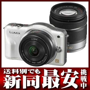 パナソニック『LUMIX GF3ダブルレンズキット』DMC-GF3W-W シェルホワイト デジタル一眼カメラ【...