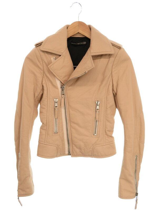 【BALENCIAGA】【アウター】バレンシアガ『レザージャケット size36』レディース 1週間保証【中古】