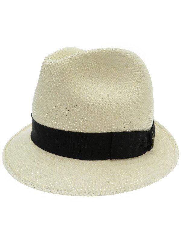 【Borsalino】【帽子】ボルサリーノ『中折れハット size59』メンズ 1週間保証【中古】