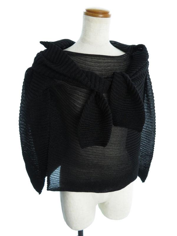 【CHANEL】【トップス】シャネル『肩掛け風 長袖ニット size38』レディース セーター 1週間保証【中古】