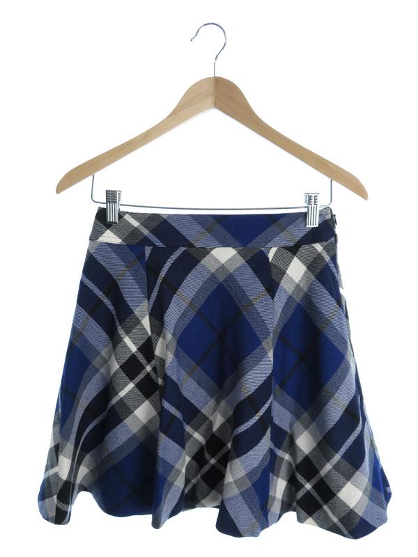 【BLUE LABEL CRESTBRIDGE】【ボトムス】ブルーレーベルクレストブリッジ『チェック柄スカート size38』レディース 1週間保証【中古】