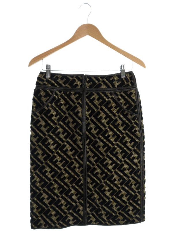 【FENDI】【ボトムス】フェンディ『ズッカ柄スカート size40』レディース 1週間保証【中古】