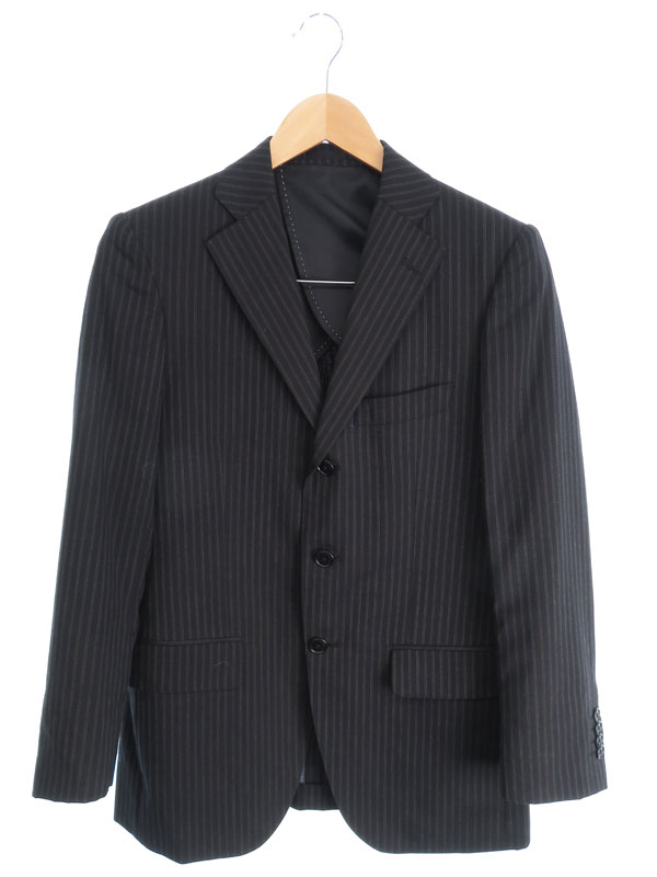 【MALE&Co.】【2ピース】メイルアンドコー『ストライプ柄スーツ上下セット size90Y4』メンズ セットアップ 1週間保証【中古】