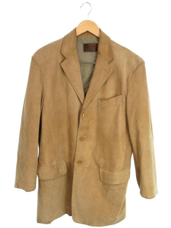 【LOEWE】【アウター】ロエベ『スウェードテーラードジャケット size50』メンズ 1週間保証【中古】