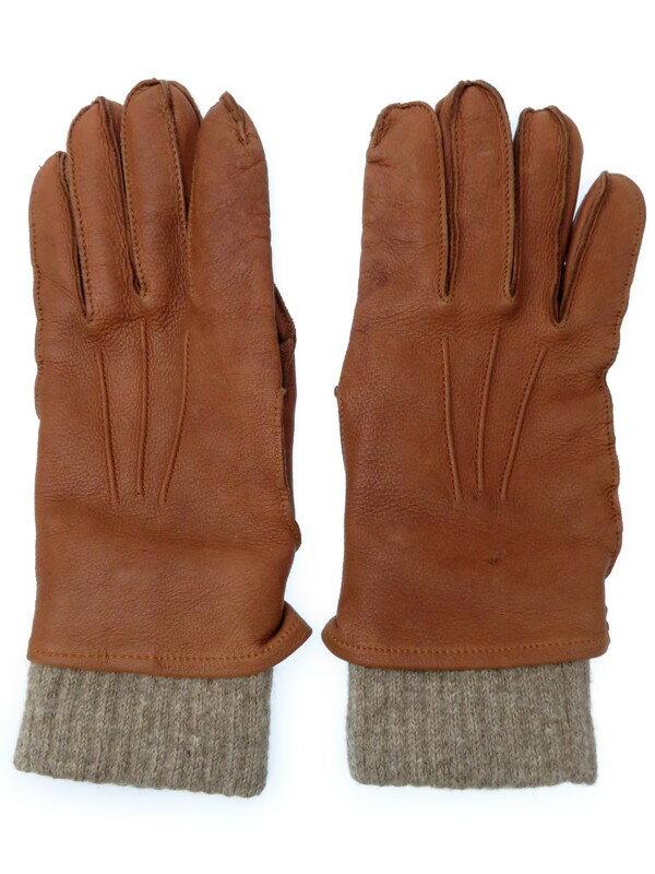 【BROOKS BROTHERS】ブルックスブラザーズ『レザーグローブ  sizeM』メンズ 手袋 1週間保証【中古】