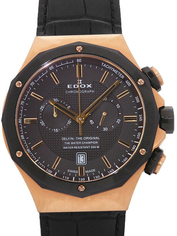 【EDOX】エドックス『デルフィン』10108-37GRC-GIR メンズ クォーツ 1週間保証【中古】