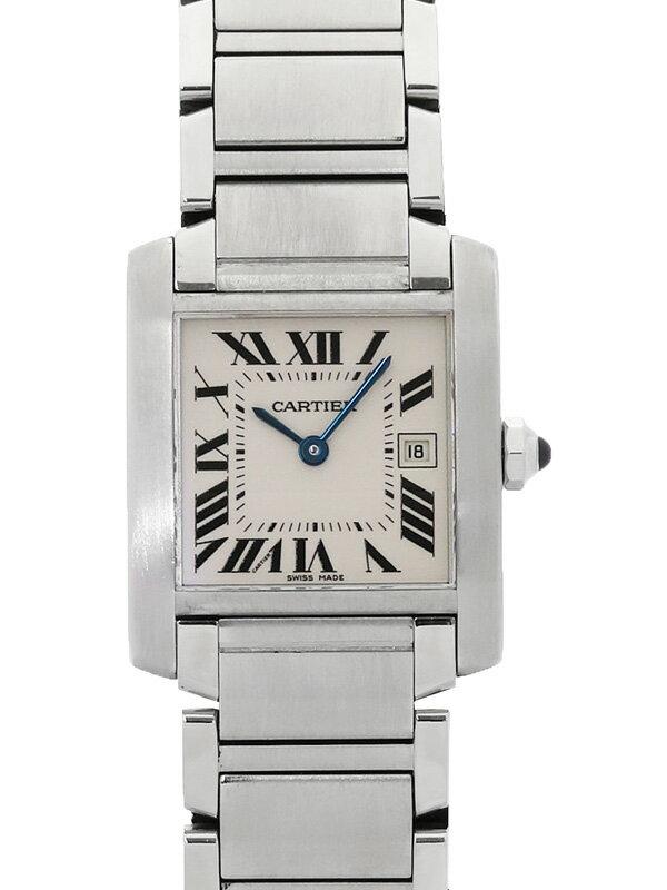 【Cartier】【'17年メーカーコンプリートサービス済】カルティエ『タンクフランセーズMM』W51011Q3 ボーイズ クォーツ 3ヶ月保証【中古】