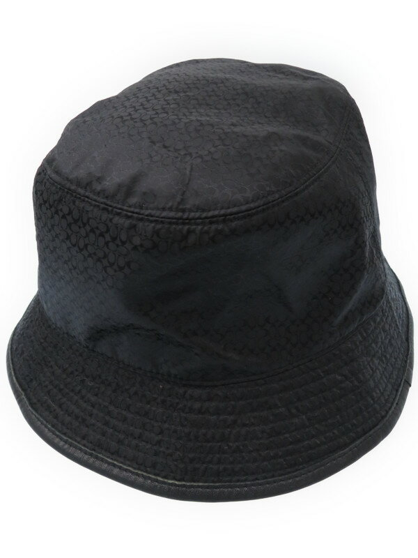 【COACH】コーチ『シグネチャー柄ナイロンハット size P/S』レディース 帽子 1週間保証【中古】