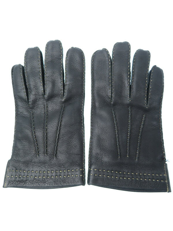 【COACH】コーチ『レザーグローブ sizeM』メンズ 手袋 1週間保証【中古】