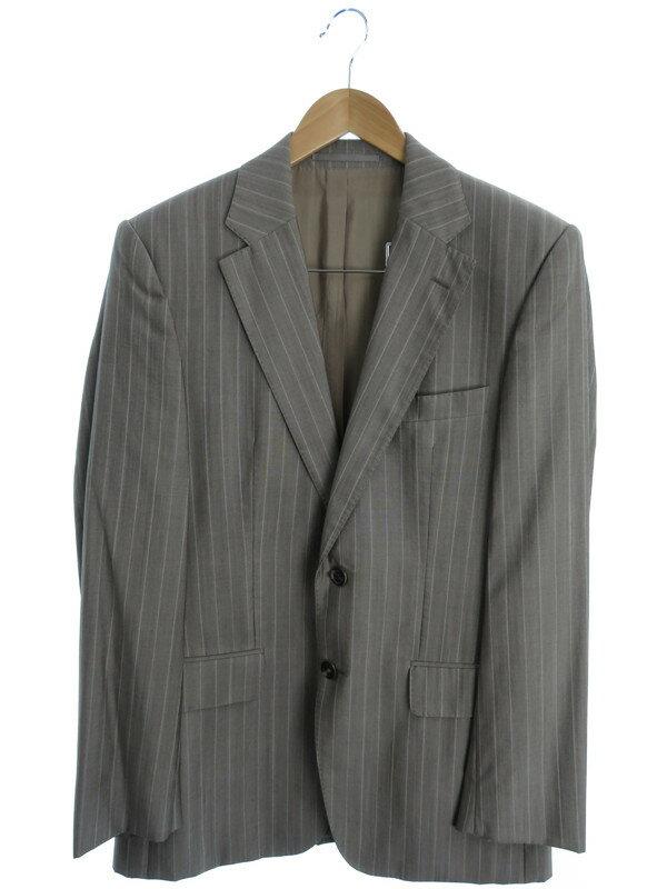 【HUGO BOSS】【上下セット】ヒューゴボス『ストライプ柄スーツ size46』メンズ セットアップ 1週間保証【中古】