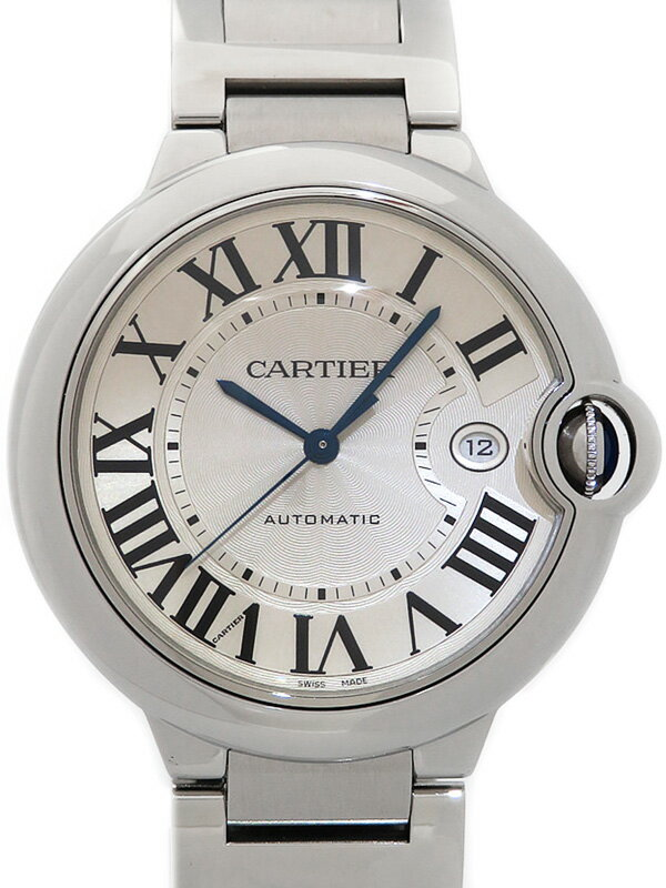 【Cartier】カルティエ『バロンブルーLM』W69012Z4 メンズ 自動巻き 3ヶ月保証【中古】