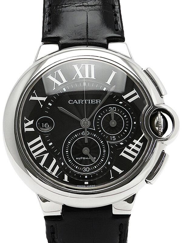 【Cartier】【裏スケ】カルティエ『バロンブルー クロノグラフ』W6920052 メンズ 自動巻き 6ヶ月保証【中古】