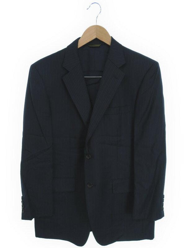 【DURBAN】【上下セット】【2ピース】ダーバン『ストライプ柄スーツ上下 size94AB4』メンズ セットアップ 1週間保証【中古】
