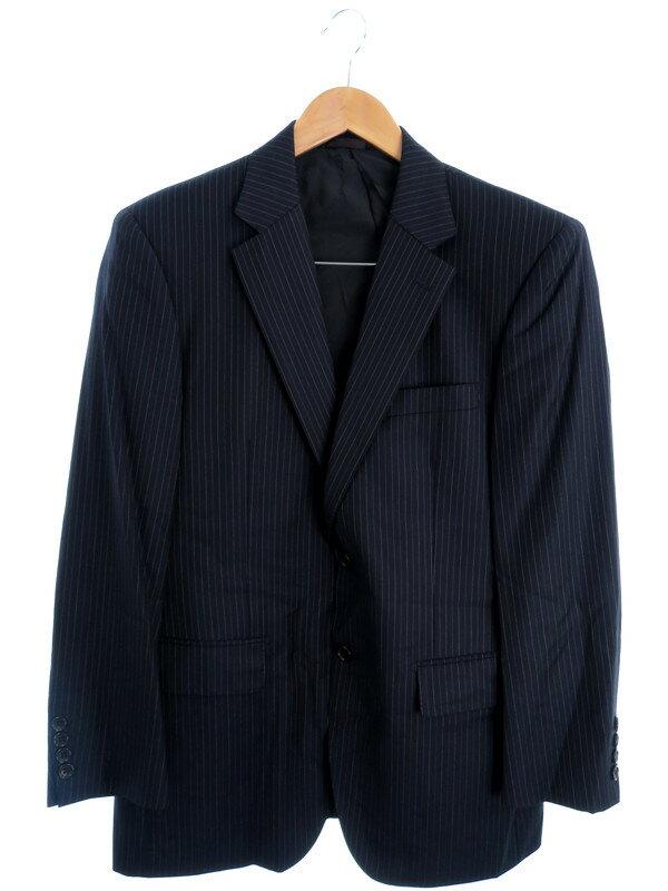 【DURBAN】【上下セット】【2ピース】ダーバン『ストライプ柄スーツ上下 size96AB5』メンズ セットアップ 1週間保証【中古】