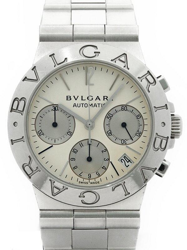 【BVLGARI】【OH済】ブルガリ『ディアゴノ スポーツ クロノグラフ』CH35S メンズ 自動巻き 1ヶ月保証【中古】