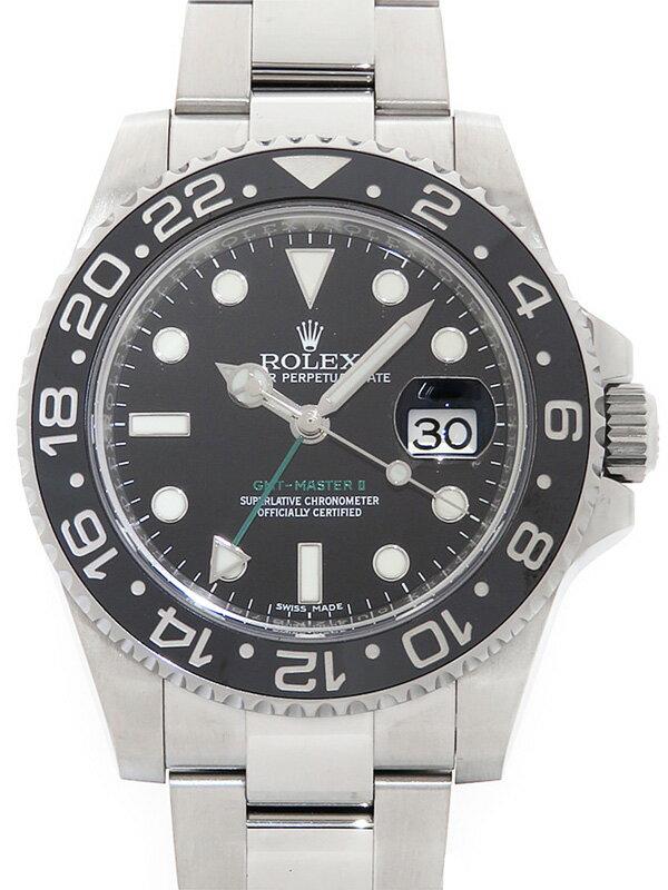 【ROLEX】【'16年購入】ロレックス『GMTマスター2』116710LN ランダム番 メンズ 自動巻き 12ヶ月保証【中古】