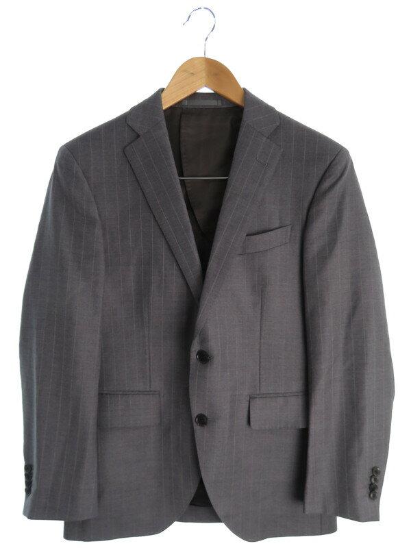 【NEXT BLUE】【2ピース】【上下セット】ネクストブルー『ストライプ柄セットアップスーツ size90A4』メンズ シングルスーツ 1週間保証【中古】