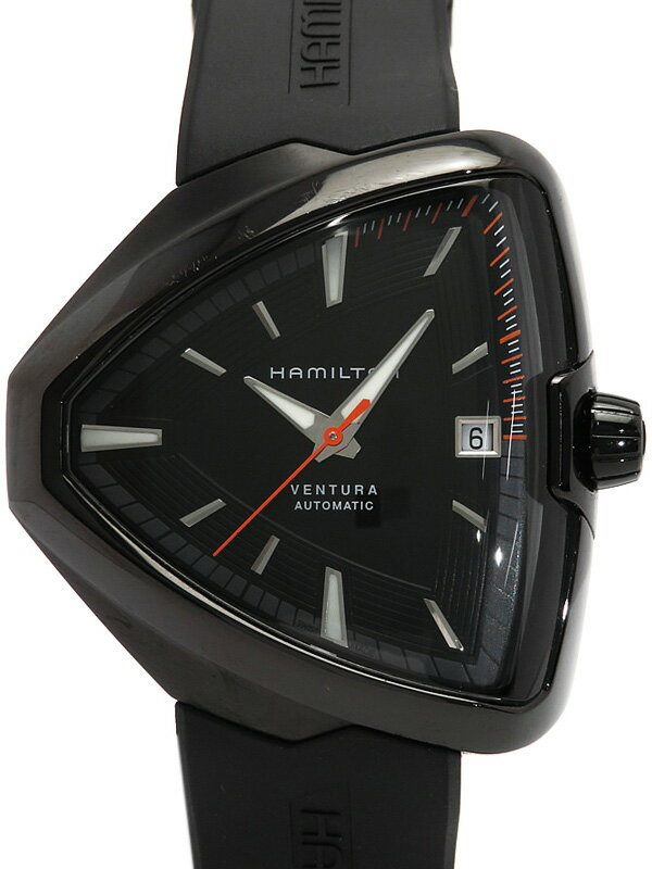 【HAMILTON】【裏スケ】【'17年購入】ハミルトン『ベンチュラ エルヴィス80』H24585331 メンズ 自動巻き 1ヶ月保証【中古】