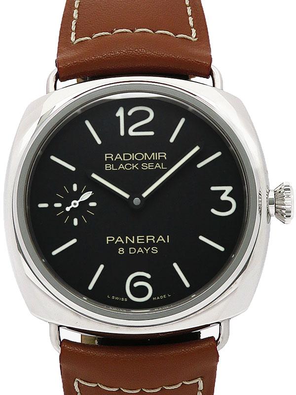 【PANERAI】【'16年購入】【裏スケ】パネライ『ラジオミール ブラックシール 8デイズ アッチャイオ』PAM00609 R番'15年製 メンズ 手巻き 6ヶ月保証【中古】