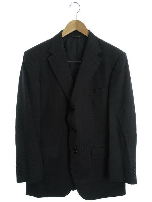 【DURBAN】【上下セット】ダーバン『ストライプ柄スーツ size96AB5』メンズ セットアップ 1週間保証【中古】