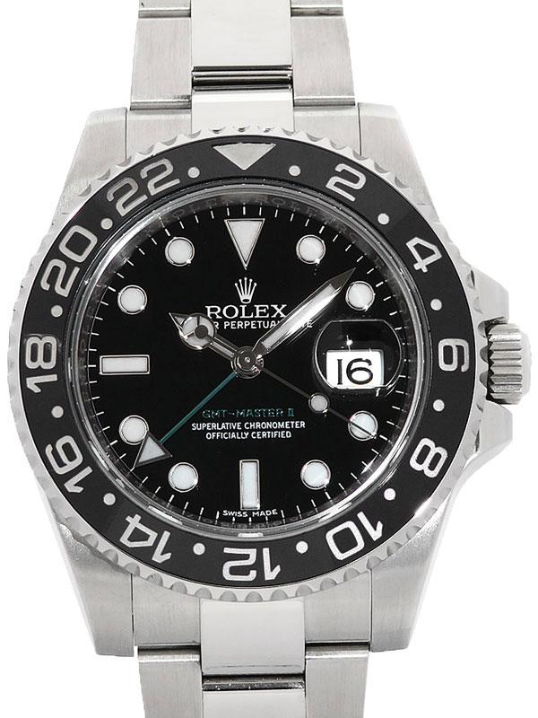 【ROLEX】【'17年購入】ロレックス『GMTマスター2』116710LN ランダム番 メンズ 自動巻き 12ヶ月保証【中古】