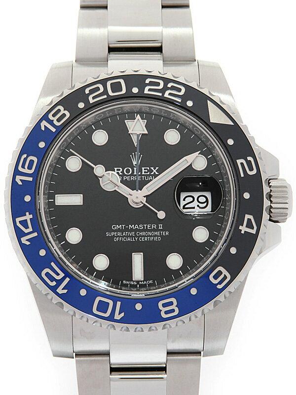 【ROLEX】【'18年購入】ロレックス『GMTマスター2 青×黒ベゼル』116710BLNR ランダム番 メンズ 自動巻き 12ヶ月保証【中古】