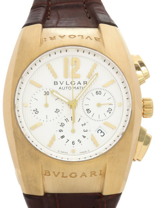【BVLGARI】【YGケース】ブルガリ『エルゴン クロノグラフ』EG40GCH メンズ 自動巻き 6ヶ月保証【中古】