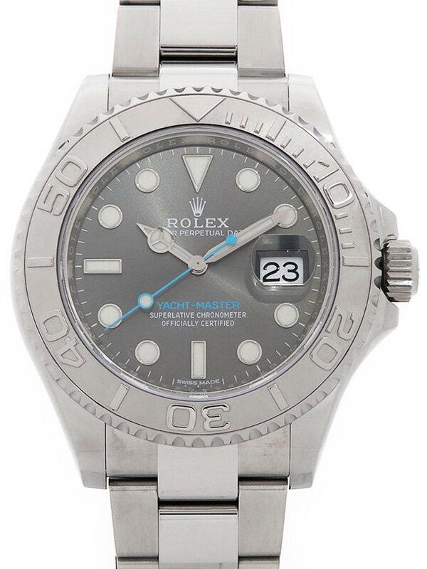 【ROLEX】【ダークロジウム】【'17年購入】ロレックス『ヨットマスターロレジウム』116622 ランダム番 メンズ 自動巻き 12ヶ月保証【中古】