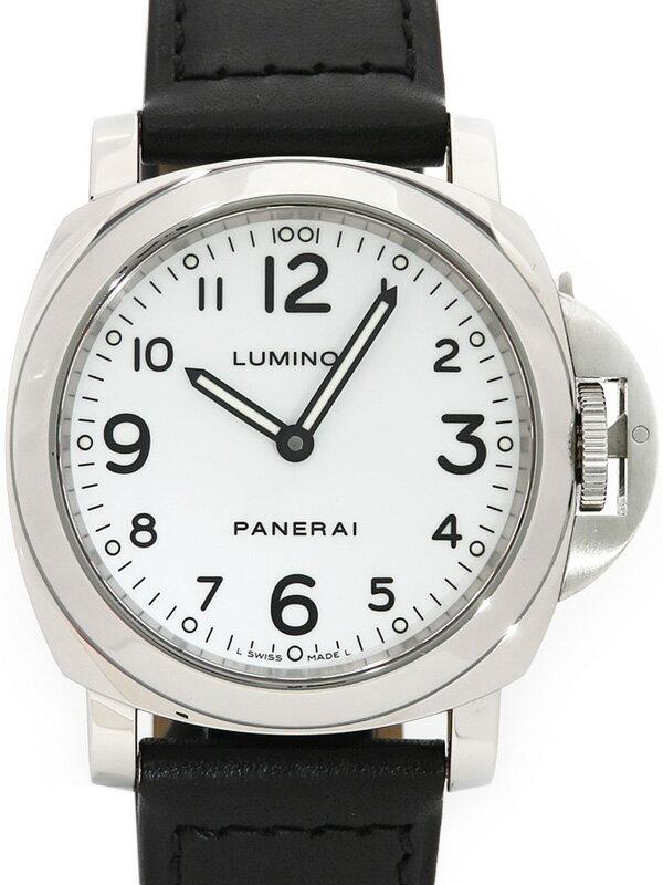【PANERAI】【裏スケ】パネライ『ルミノールベース 44mm』PAM00114 J番'07年製 メンズ 手巻き 6ヶ月保証【中古】