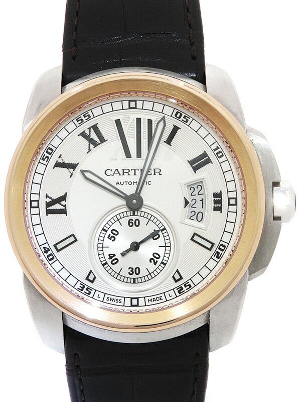 【Cartier】【裏スケ】カルティエ『カリブル ドゥ カルティエ』W7100011 メンズ 自動巻き 6ヶ月保証【中古】