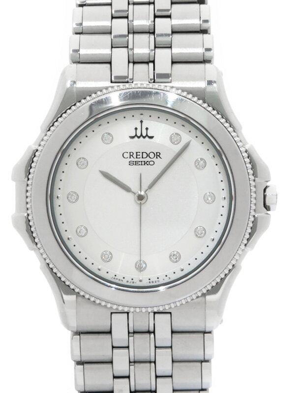 【SEIKO】【CREDOR】セイコー『クレドール パシフィーク 11Pダイヤ』GCAR993 97****番 ボーイズ クォーツ 1ヶ月保証【中古】