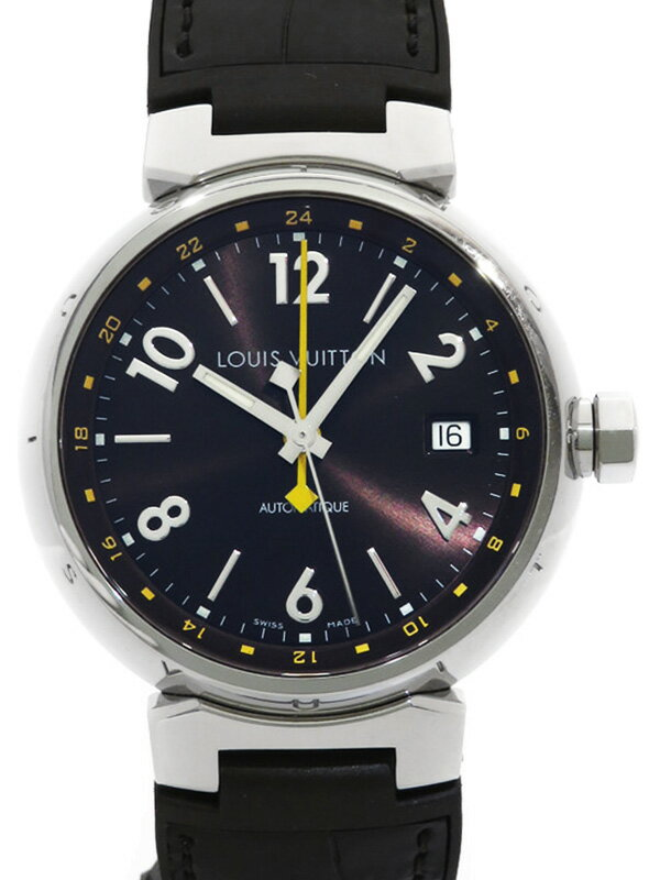 【LOUIS VUITTON】ルイヴィトン『タンブール GMT』Q11310 メンズ 自動巻き 3ヶ月保証【中古】