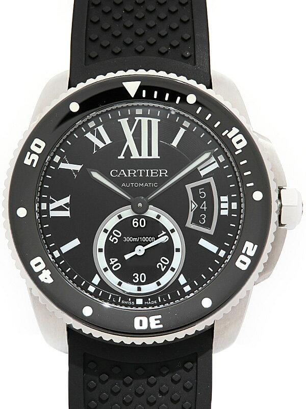 【Cartier】【'17年購入】カルティエ『カリブル ドゥ カルティエ ダイバー』W7100056 メンズ 自動巻き 6ヶ月保証【中古】
