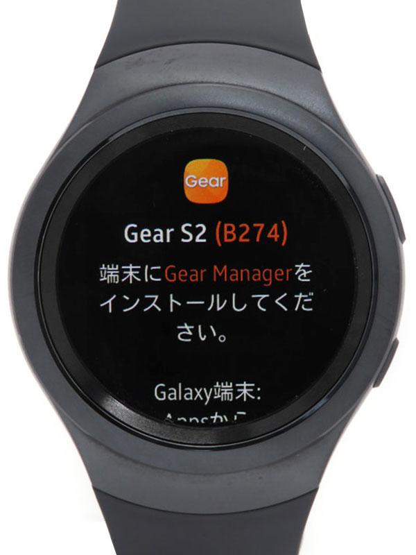 【SAMSUNG】【スマートウォッチ】サムスン『Gear S2』SM-R7200ZKAKDI ボーイズ 腕型端末 1週間保証【中古】
