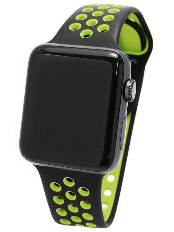 【Apple】【アップルウォッチ シリーズ2】アップル『Apple Watch Series2 Nike+ 42mm ブラック/ボルト』MP0L2J/A ボーイズ ウェアラブル端末 1週間保証【中古】