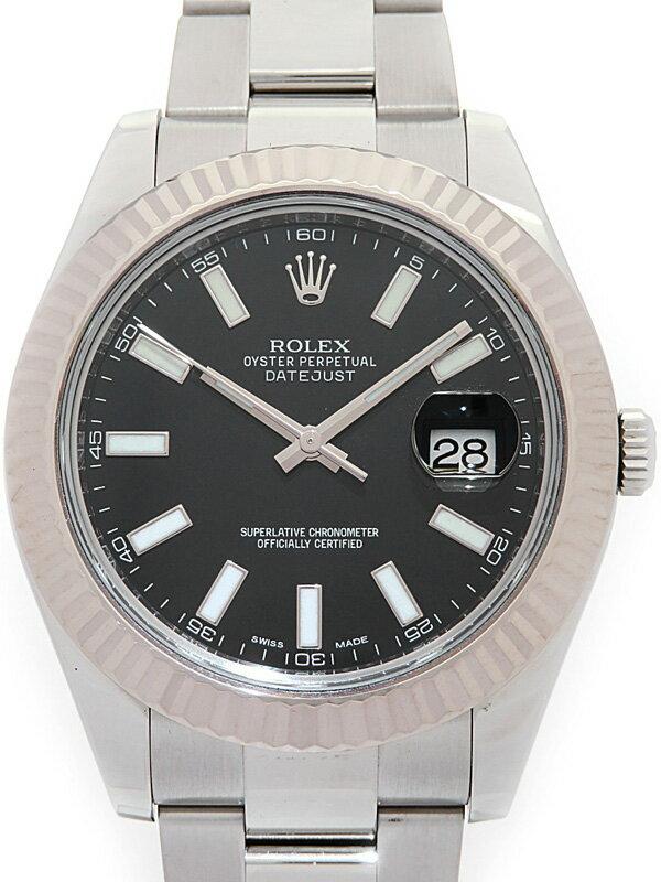 【ROLEX】ロレックス『デイトジャスト2』116334 ランダム番 メンズ 自動巻き 12ヶ月保証【中古】
