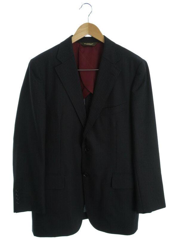 【Paul Stuart】【上下セット】ポールスチュアート『ストライプ柄スーツ』メンズ セットアップ 1週間保証【中古】