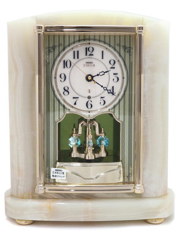 【SEIKO】【'18年購入】セイコー『エムブレム 置時計』HW521M 1週間保証【中古】