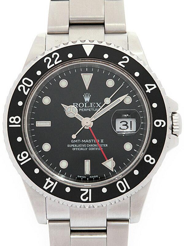【ROLEX】【仕上済】ロレックス『GMTマスター2 黒ベゼル』16710LN D番'05年頃製 メンズ 自動巻き 12ヶ月保証【中古】