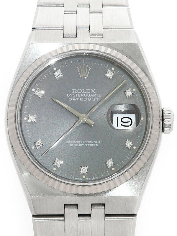 【ROLEX】【電池交換済】ロレックス『オイスタークォーツ デイトジャスト 10Pダイヤ』17014G R番'87年頃製 メンズ 12ヶ月保証【中古】