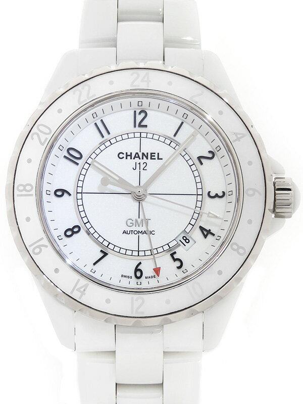 【CHANEL】【ニューダイアル】シャネル『J12 ホワイトセラミック  GMT42mm』H2126 メンズ 自動巻き 3ヶ月保証【中古】