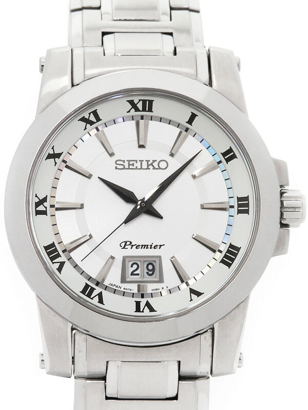 【SEIKO】セイコー『プルミエ ビッグデイト』SCJL001 47****番 メンズ クォーツ 1週間保証【中古】