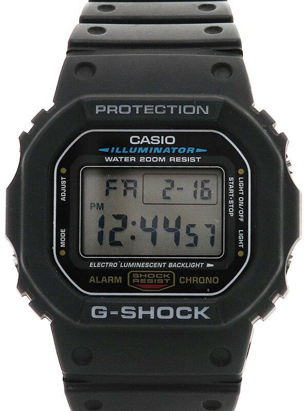 【CASIO】【G-SHOCK】【海外モデル】【美品】カシオ『Gショック』DW-5600E-1VDF ボーイズ クォーツ 1週間保証【中古】