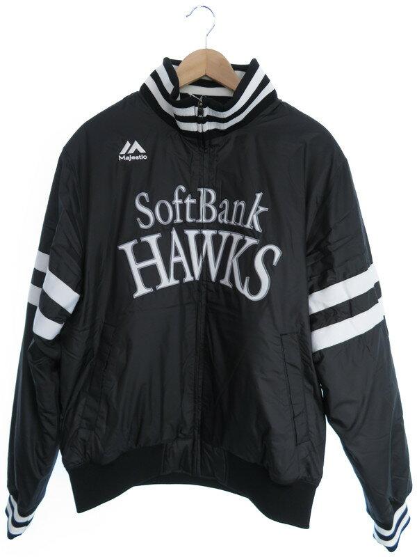 【Majestic Athletic】【softbank HAWKS】【アウター】マジェスティックアスレティック『ソフトバンクホークス 中綿ブルゾン sizeL』メンズ 1週間保証【中古】