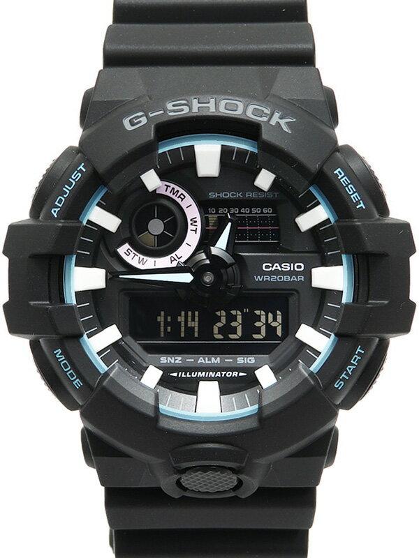 【CASIO】【G-SHOCK】【Neon accent color】【美品】カシオ『Gショック ネオンアクセントカラー』GA-700PC-1AJF メンズ クォーツ 1週間保証【中古】