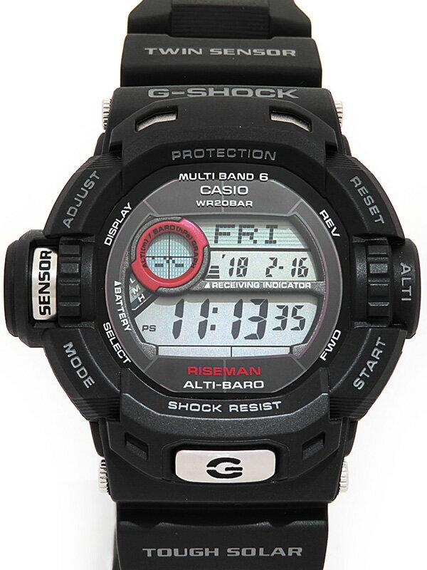 【CASIO】【G-SHOCK】【美品】カシオ『Gショック ライズマン』GW-9200J-1JF メンズ ソーラー電波クォーツ 1週間保証【中古】