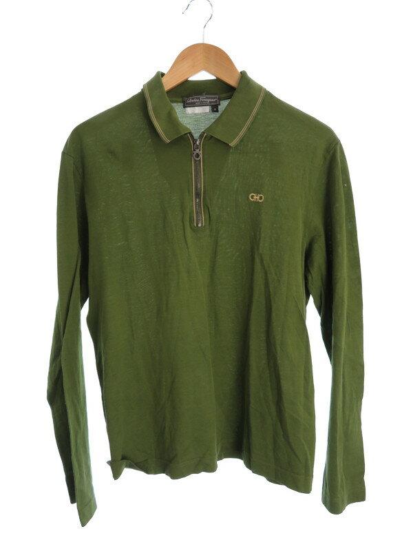 【Salvatore Ferragamo】【トップス】フェラガモ『長袖ポロシャツ sizeS』メンズ 1週間保証【中古】