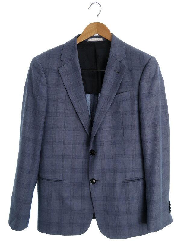 【ARMANI COLLEZIONI】【上下セット】アルマーニコレッツォーニ『チェック柄スーツ size48』メンズ セットアップ 1週間保証【中古】